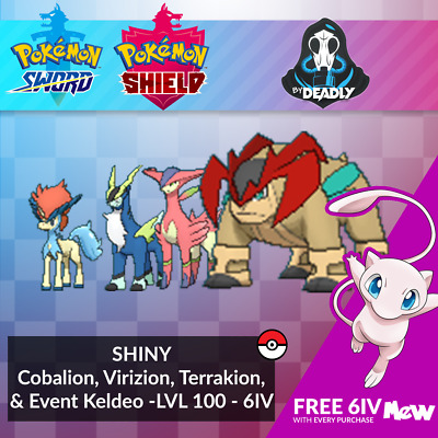 Shiny Cobalion, Virizion, Terrakion & Event Keldeo for ...