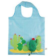 Reusable Cactus Foldable Ladies Shopping Bag Eco Tote Handbag Fold Away Gift