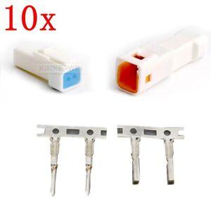 10x JST02T/02R-JWPF-VSLE-S JST Series Waterproof Connector Plug Kits New