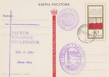 Poland postmark CZESTOCHOWA - religion church JASNA GORA (violet !!)