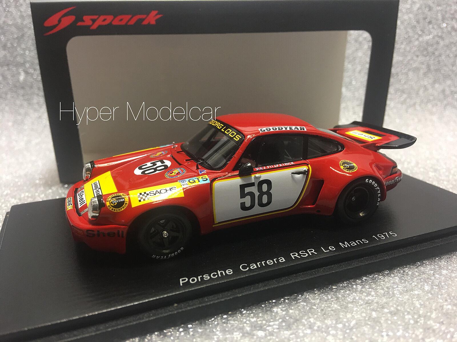 Spark 1 43 Porsche 911 Carrera RSR 3.0  58 24h Le Mans 1975 Art. S5088