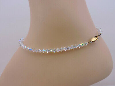 SWAROVSKI® Crystal Ankle Bracelet, Handmade, Aurora Borealis ANKLET,  Bicones   eBay