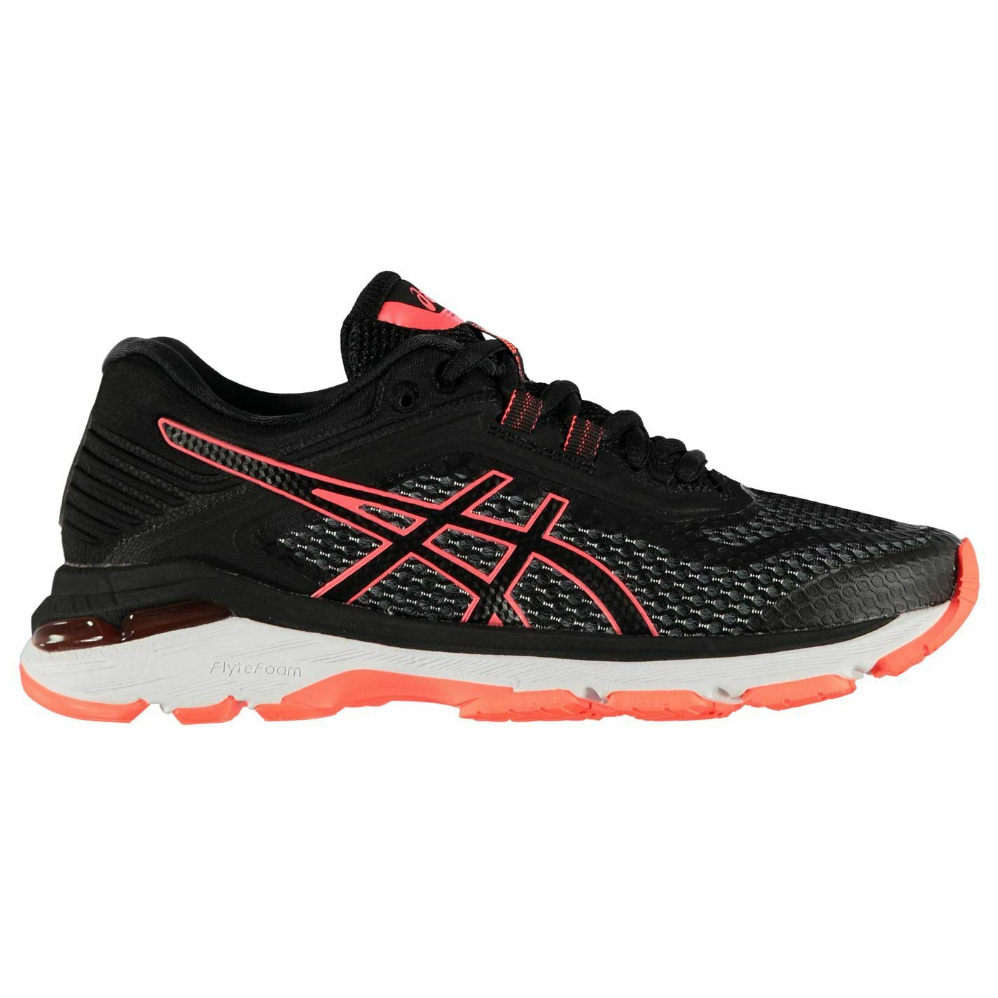 Asics GT 2000v6 Running shoes Ladies Road Laces Fastened Ventilated Padded Ankle