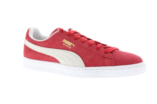 new arrivals 11071 a7de0 Puma Suede Classic+ 35263405 Mens Red Lace Up Low Top Sneakers Shoes