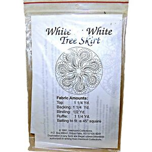 Simple Elegant White Heirloom Collections Christmas Tre