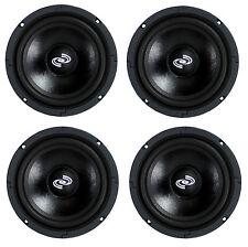 4) Pyle Pro 8 Inch 360 Watt 8-Ohm Black Driver Mid Range Audio Speakers | PDMR8