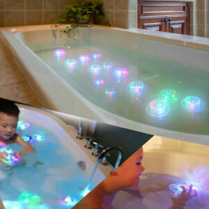 RGB LED Kid Shower Toy Waterproof Light Baby Bath Oval Lights Glowing Prop Lamp Baby Baby Bathing/Grooming