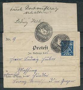 Bavière Service Affaire De La Poste Présentés Protestation Contre Un Postauftrag-afficher Le Titre D'origine