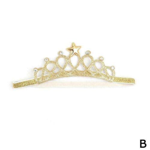 Princess Crown Headwear Headbands Bow Girls Toddler Baby Kids Hair Accessor L3U2