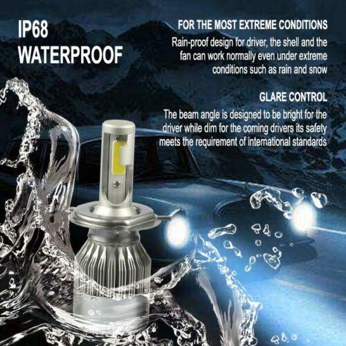 3500W 525000LM H4 9003 LED Conversion Headlight KIT Hi//Low Beam 6000K White Bulb