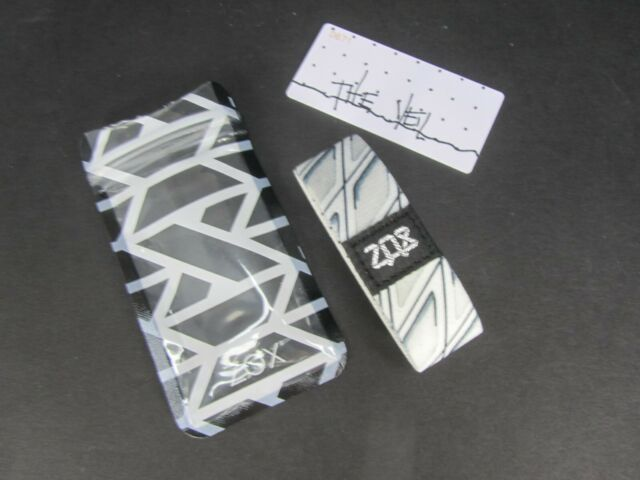 ZOX Silver Strap THE VEIL Wristband with Card Reversible New