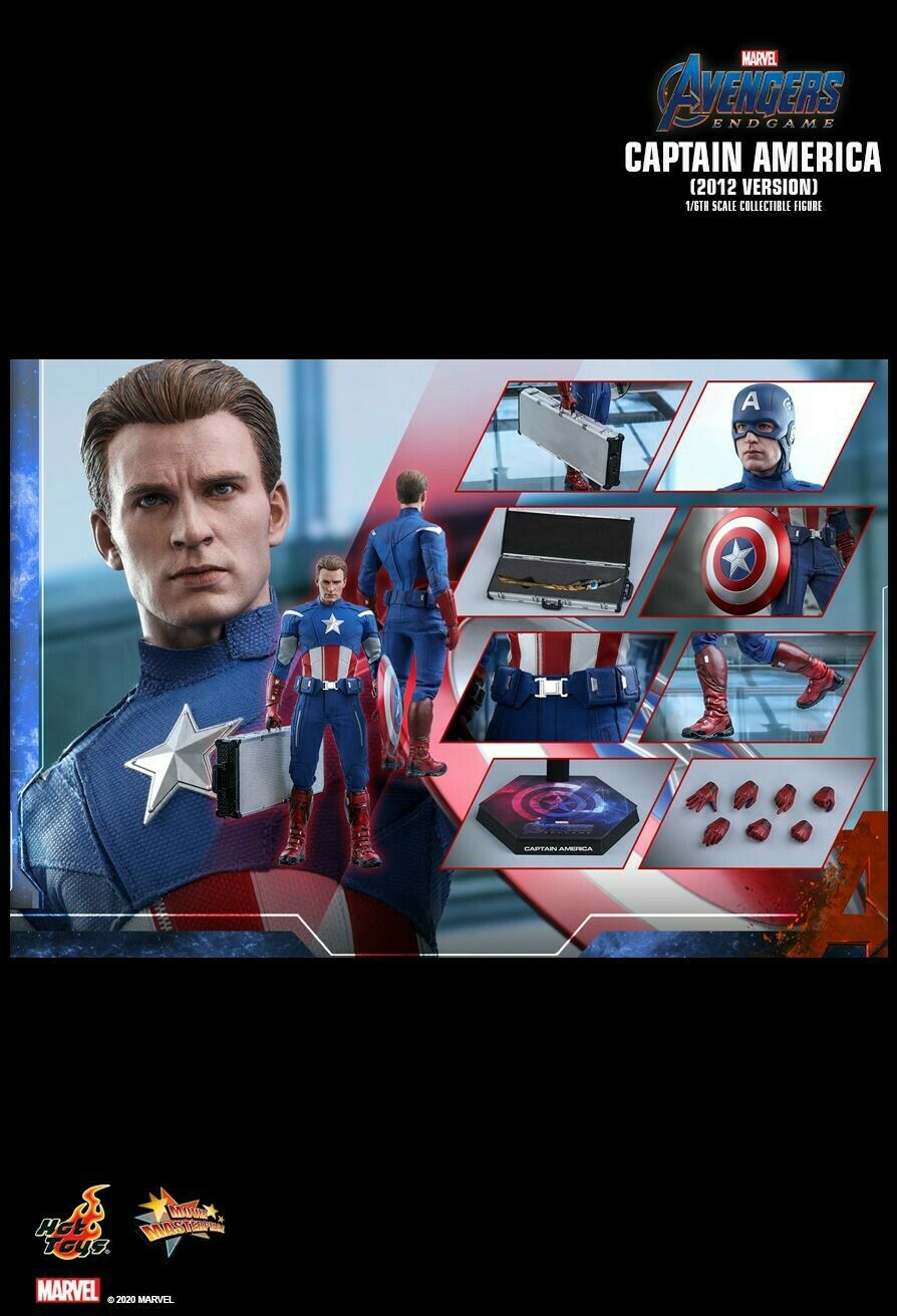 (Pre Order) Hottoys Captain America (2012 Version) (Marvel Avengers Endgame)