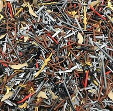LEGO BULK LOT OF 50 NEW MINIFIGURE CASTLE WEAPONS SWORDS AXES GUNS MORE!!