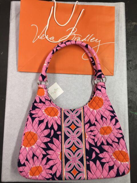 VERA BRADLEY Large Hobo LOVES ME Bag Purse Satchel RARE Retired Pattern GIFT BAG