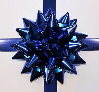 "28cm GIANT car Bow Matt BLUE Large present Bow Baby Boy Gift Bow Party Decor 11/"""