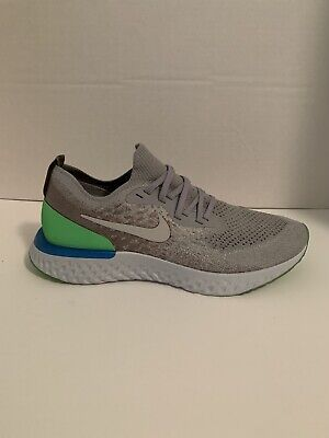 Nike Epic React Flyknit Wolf Grey Lime