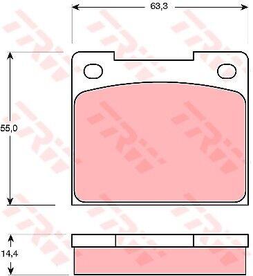 Lancia Fulvia 818 1.3 Plaquettes De Frein Set Arrière 69 To 76 138B.100 TRW qualité neuf