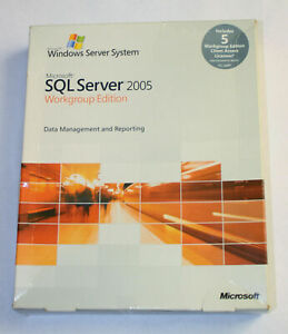 Microsoft SQL Server 2005 Workgroup Edition - 5 Clients, Englisch - inkl. MwSt