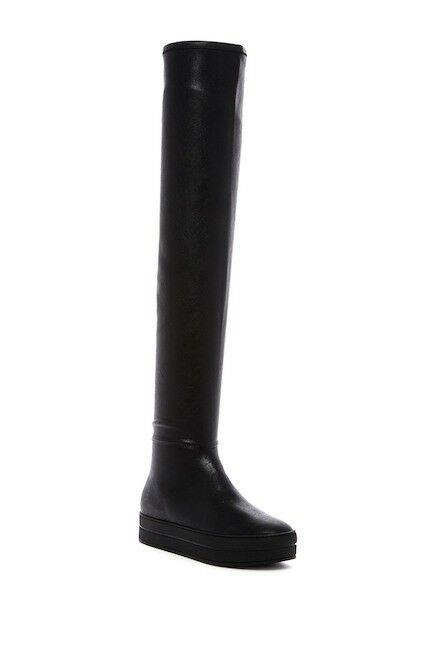LFL par Lust For Life Biggie Stretch Cuissardes Plateforme Bottes Noires 7 m ou 8 m