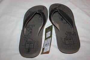 d39c5b747cf7 NWT Mens Reef Machado Day Prints Tan Map Sandals Flip Flops Shoes Sz ...