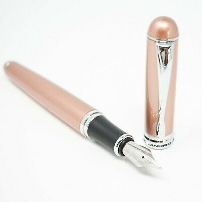 UK SOLD! MEDIUM Nib Chrome Trim Jinhao X750 Deluxe Black Fountain Pen