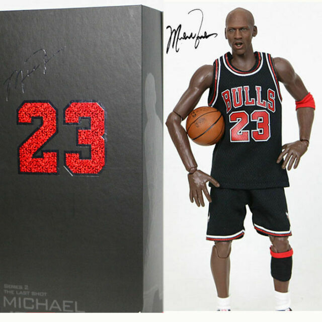 reputable site 78a1c aef72 Real Masterpiece Michael Jordan 23 Black Jersey 1/6 Action Figure