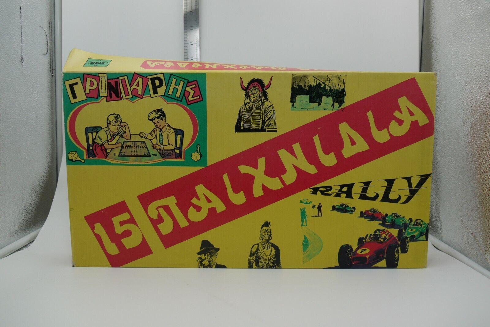 Vintage años 80 15 Juegos De Colección griego Juego de Mesa Stam Juguetes Completa