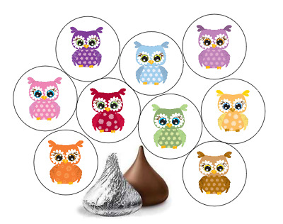 Set of 240 Kids Envelope Seal Candy Stickers Sloth Party Label for HERSHEY/'S KISSES/® chocolates