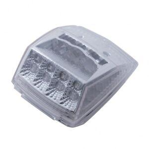 17 LED Reflector Square Cab Light - Amber LED/Clear Lens