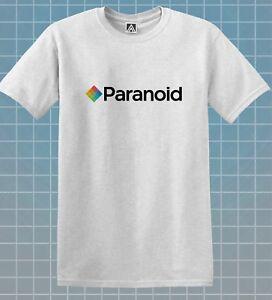 Paranoiaque-T-shirt-Camera-Film-Parodie-Crazy-Blague-Tee-Indie-Retro-Logo-Nouveaute-Top