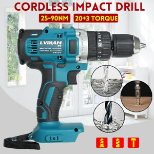 18V-3in1-13mm-Cordless-Compact-Impact-Drill-Hammer-Driver-LED-for-Makita-Battery