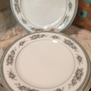 Vintage-Noritake-Bristol-Fine-China-Dinner-Plates-Set-Of-Six
