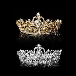 Rhinestone-King-Crown-Tiara-Wedding-Pageant-Bridal-Diamante-Headpiece-Jewelry