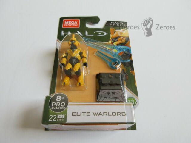 Halo Mega Construx Heroes Series 13 #GVP39 ELITE WARLORD Yellow Infinite New NIB