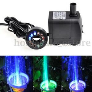 10w led light 600l h submersible water pump aquarium koi for Koi fish pond water pump