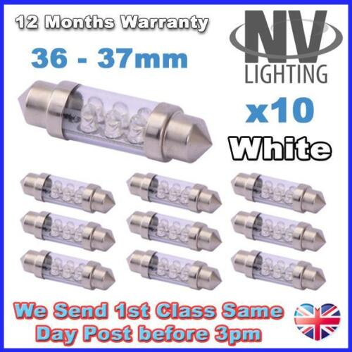 36mm 37mm 239 C5W 6 LED Interior or Number Plate License Festoon Light Bulbs