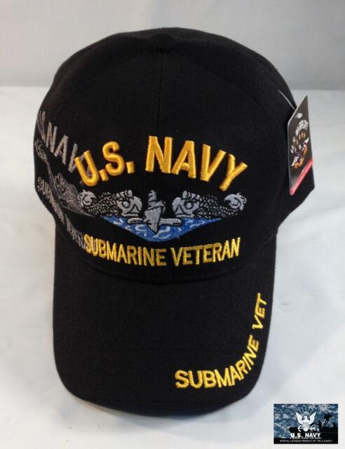US Navy Submarine Service Veteran Ball Cap Sub Force Hat Shadow Black -  Quality 6fb74a11261