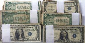 10-Count-Lote-de-1935-Uno-Dolar-de-Plata-Certificado-Random-Grado