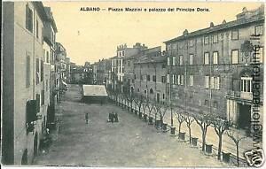 ... CARTOLINA D 039 Epoca ALBANO LAZIALE PIAZZA MAZZINI