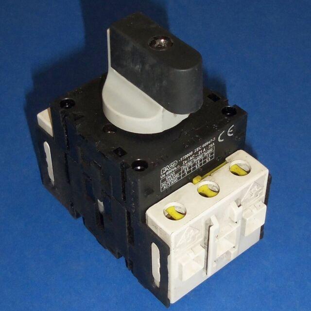 BACO 600VAC 25A 3 POLE SWITCH IEC 60947