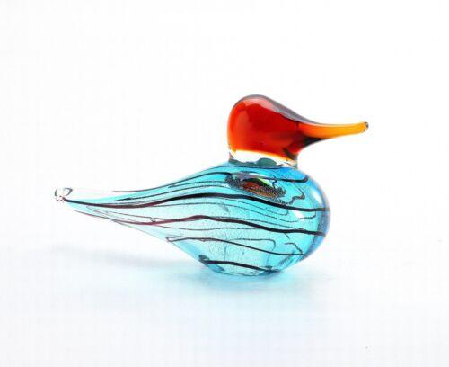 New 9 Hand Blown Art Glass Bird Duck Blue Green Red Figurine Sculpture Statue