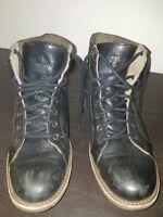 Mens CATERPILLAR black leather ankle boots. sz 12 M