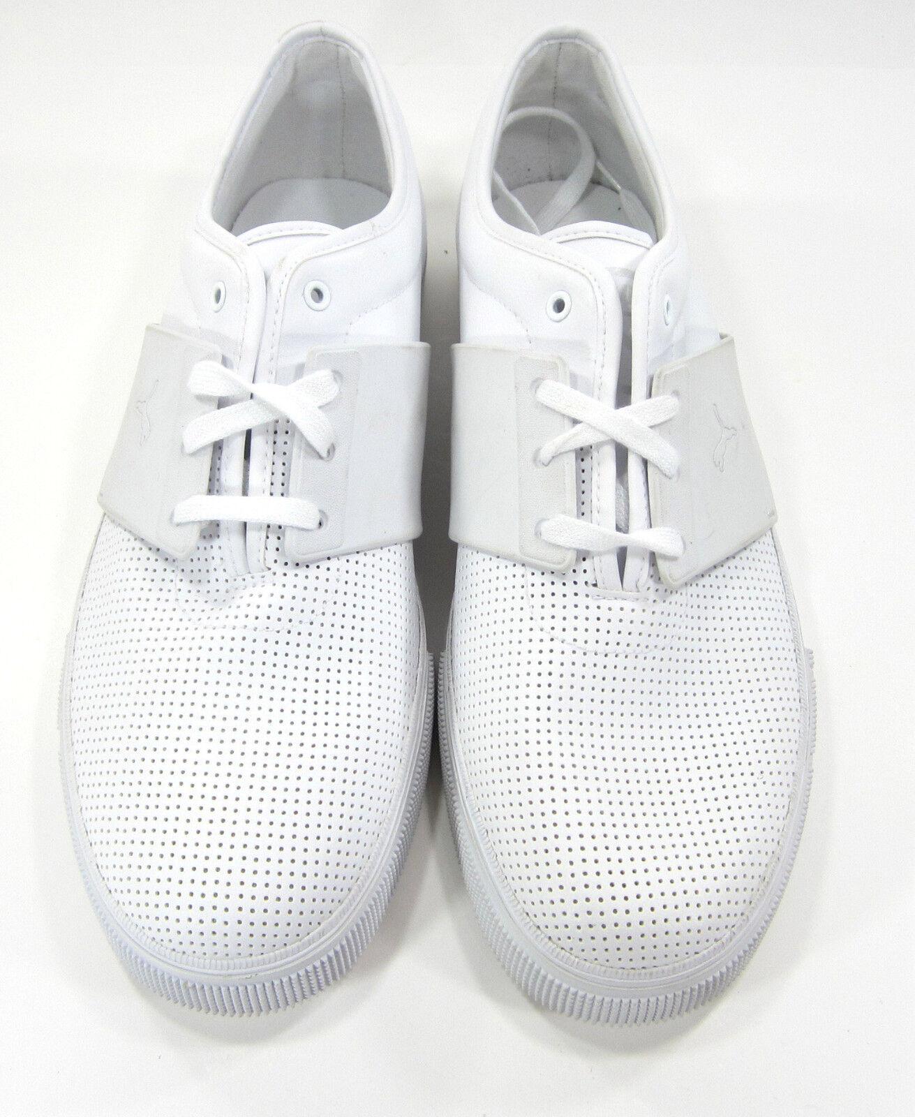 sports shoes 077d0 8f573 ... Zapatos puma el el el Ace de cuero perforado blanco zapatillas comodas  el último descuento zapatos ...