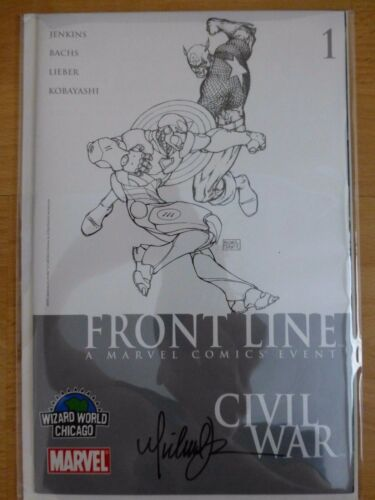 """Civil War"" Front Line 1 ""Wizard World Chicago"" Michael Turner Signed 2006 COA"