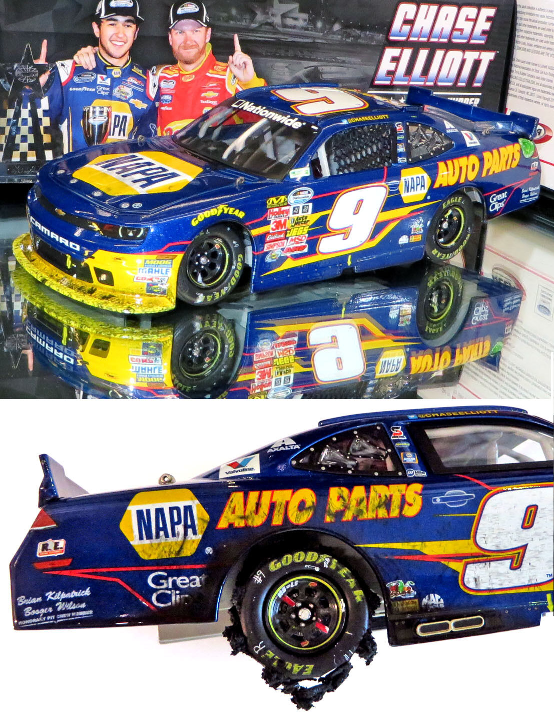 CHASE ELLIOTT 2014 TEXAS WIN RACED VERSION NAPA 1 24 SCALE ACTION NASCAR DIECAST