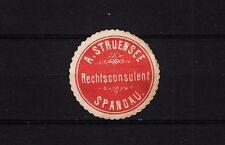 402875/ Siegelmarke - Rechtsconsulent A. Struensee - Spandau