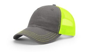 Image is loading Richardson-111-Garment-Washed-Trucker-Mesh-Adjustable-Hat- 9de6d3cc09dc