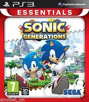 Sonic Generations PS3 Game For Sony Playstation 3 Essentials Version NEW SEALED