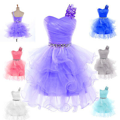 Blue Purple Short Prom Dress Formal Gown Evening Cocktail Party Masquerade Dress