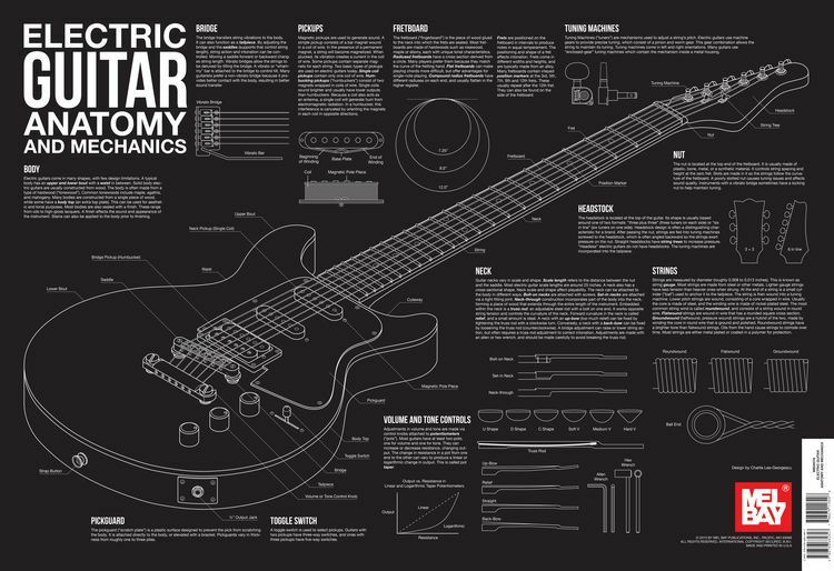 Mel Bay Electric Guitar Anatomy And Mechanics Learn To Play Music
